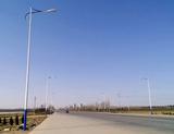 青岛市莱西上海西路路灯实景