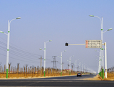 滨州市惠民县新城区惠民一路路灯实景